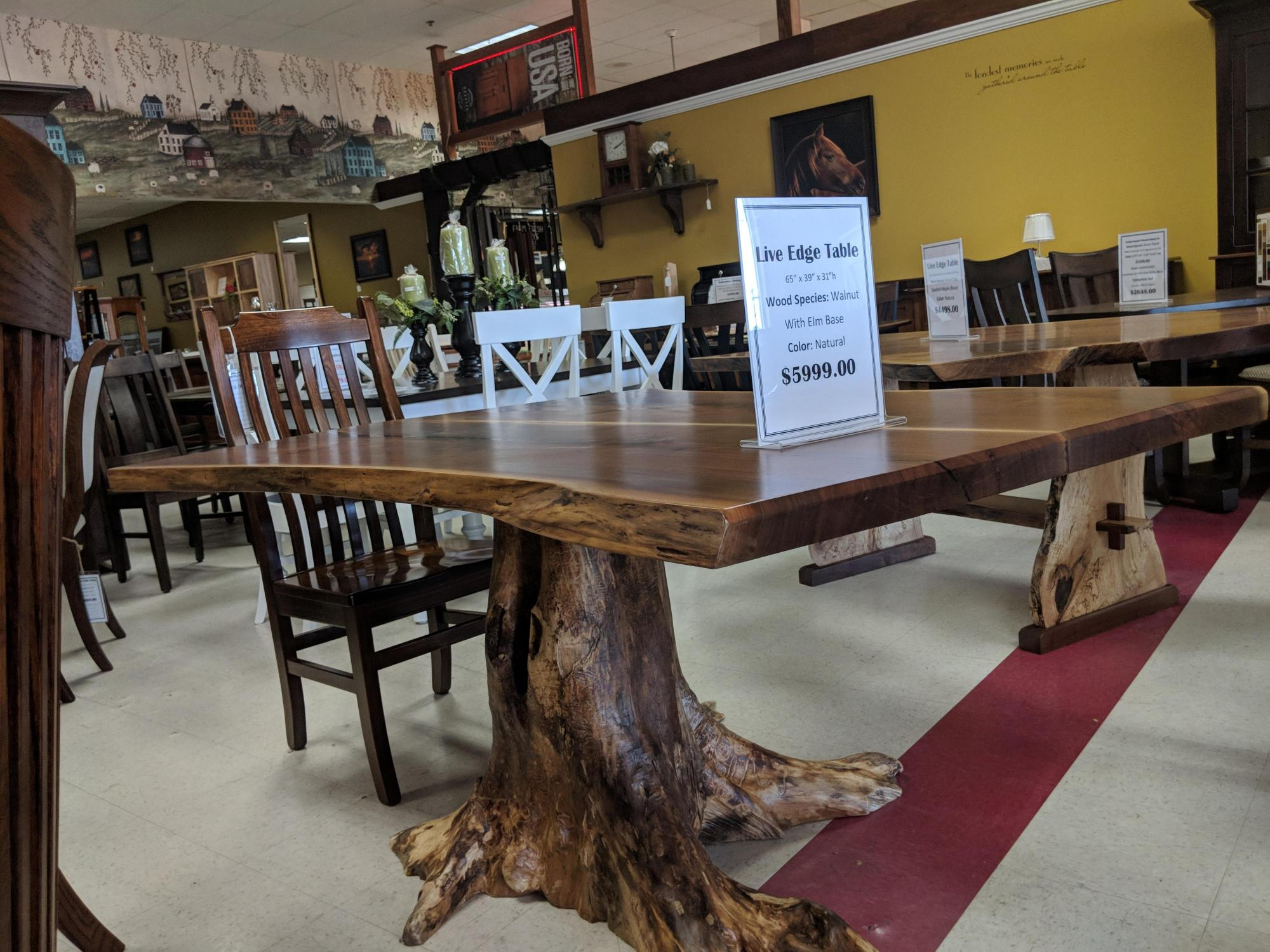 Live Edge Slab Tables Twin Brook Furniture Llc